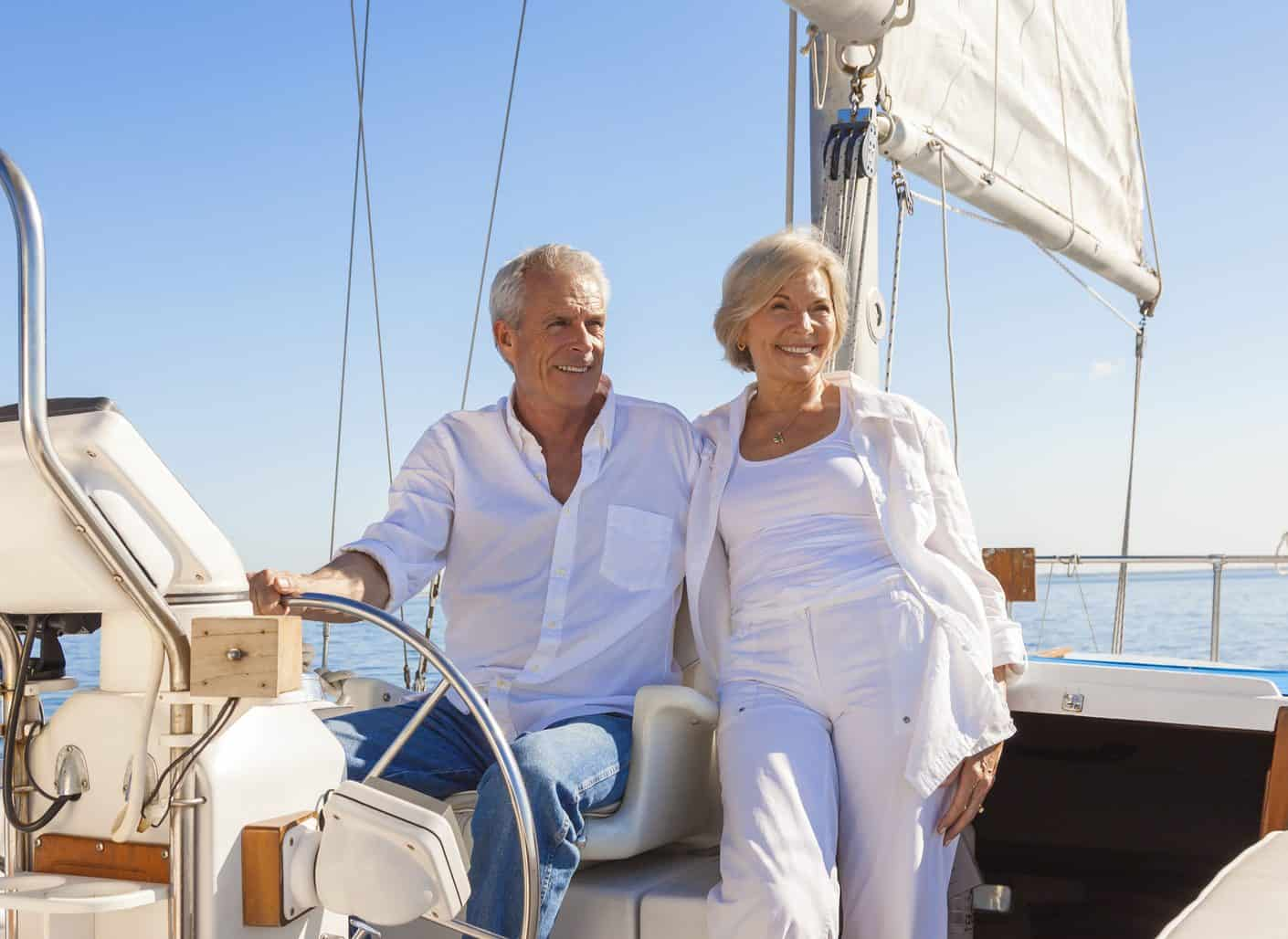Senior Couple Sailing