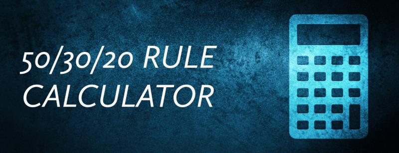 50/30/20 Rule Calculator Minnesota