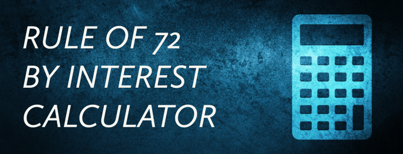 Rule of 72 by Interest